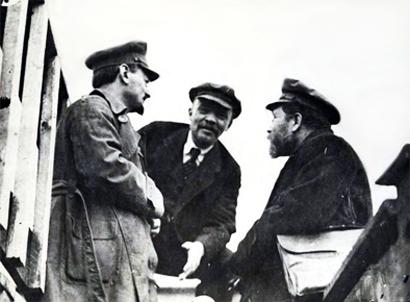 Trostky, Lenine e Kamenev